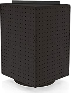 Azar 701414-BLK Pegboard 4-Sided Revolving Counter Display, Black Solid Color