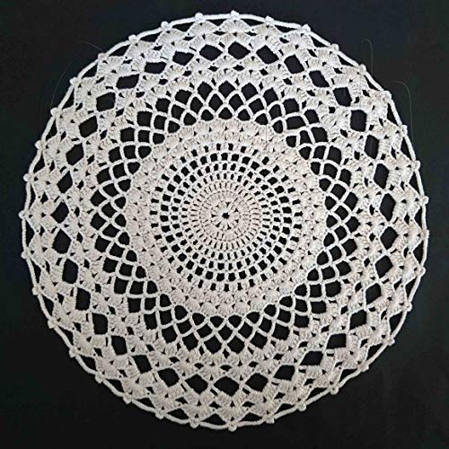 LIGHTLY STARCHED crocheted table mat kitchen placemat for home accessories broken white doily