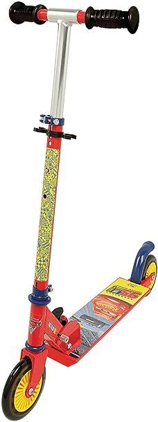 Smoby - Cars Patinete plegable manillar de altura regulable, freno de pie trasero, Disney (Smoby 750344)