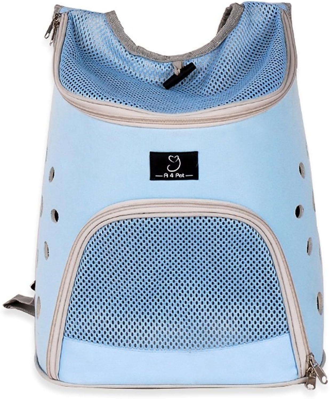 Pet Backpack Dog Travel Bag Pet Front Pocket Bag Mesh Backpack Head Out (color   bluee)