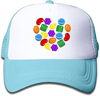 Grace Little Candy Crush Saga Teenager Outdoor Mesh Hat Tennis Caps Adjustable SkyBlue