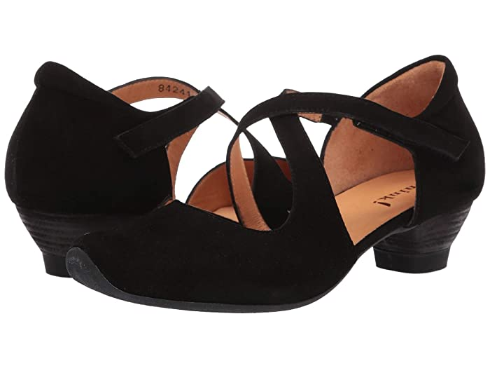 1930s Style Shoes – Art Deco Shoes Think Aida - 84241 Schwarz Womens Shoes $141.75 AT vintagedancer.com