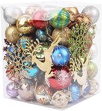 Ydh 60-70 stuks glanzende matte kleur kerstboom hangende ballen onbreekbaar Xmas hangende ornamenten kerstfeest decoraties...
