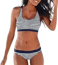 LHWY Bikinis Mujer Traje de Ba/ño Bandeau Padded Push Up Off Shoulder Swimsuit Beachwear Swimwear Bikini Set