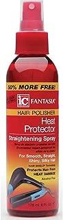 Fantasia Hair Polisher Heat Protector Straightening Spray, 6 oz (Pack of 2)