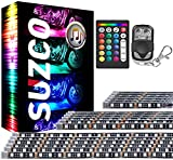 SUZCO 18-Pack Motorcycle LED Light Kits with RF&IR, RGB Strips with【L/R Turn Signal & Warning & Brake】, Multicolor Underglow Neon Lamp 2V Waterproof for Harley Honda Kawasaki Polaris KTM Can Am RZR X3
