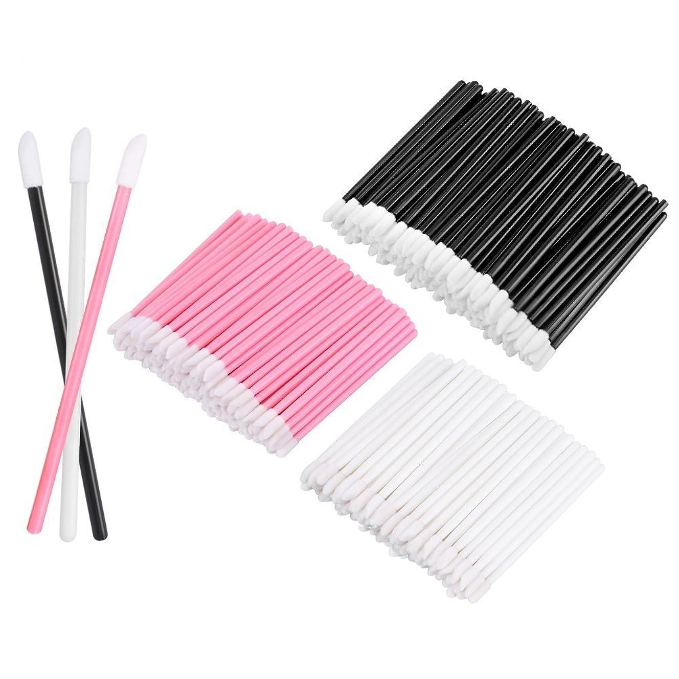 セラーかんたん石KEDSUM リップブラシ 使い捨て 300本入り メイクブラシ 化粧用品 化粧筆 化粧ブラシ 携帯用 便利 (3色)