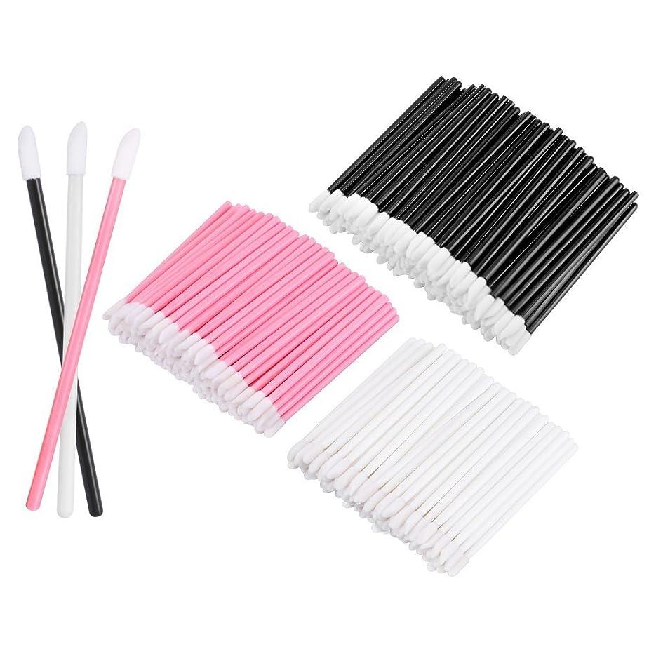 デザイナー裁判官昇進KEDSUM リップブラシ 使い捨て 300本入り メイクブラシ 化粧用品 化粧筆 化粧ブラシ 携帯用 便利 (3色)