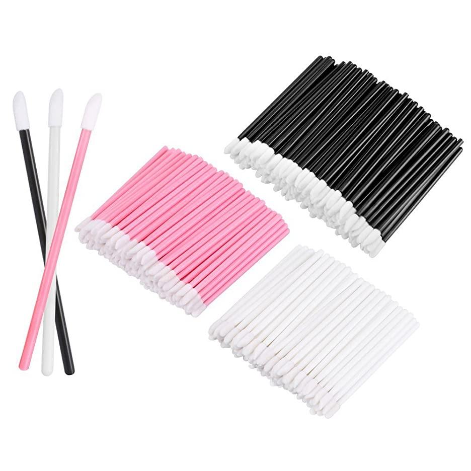 サスティーン無限災難KEDSUM リップブラシ 使い捨て 300本入り メイクブラシ 化粧用品 化粧筆 化粧ブラシ 携帯用 便利 (3色)