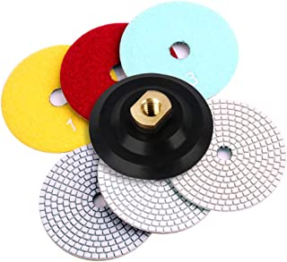 Flexible Dry and Wet Diamond 3 Step Polishing Pads,for Granite and Marble Set of 3 Pieces (4