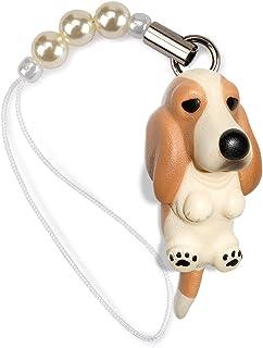 ペットラバーズ 犬種 Dog 92 Basset Hound バセットハウンド レモンホワイト ビーズ ストラップ DN-4301