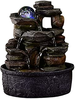 Zen Light - Fontaine d'Intérieur Nature Satya - Décoration d'Intérieur- Idée Cadeau Originale - Eclairage Fontaine LED Mul...