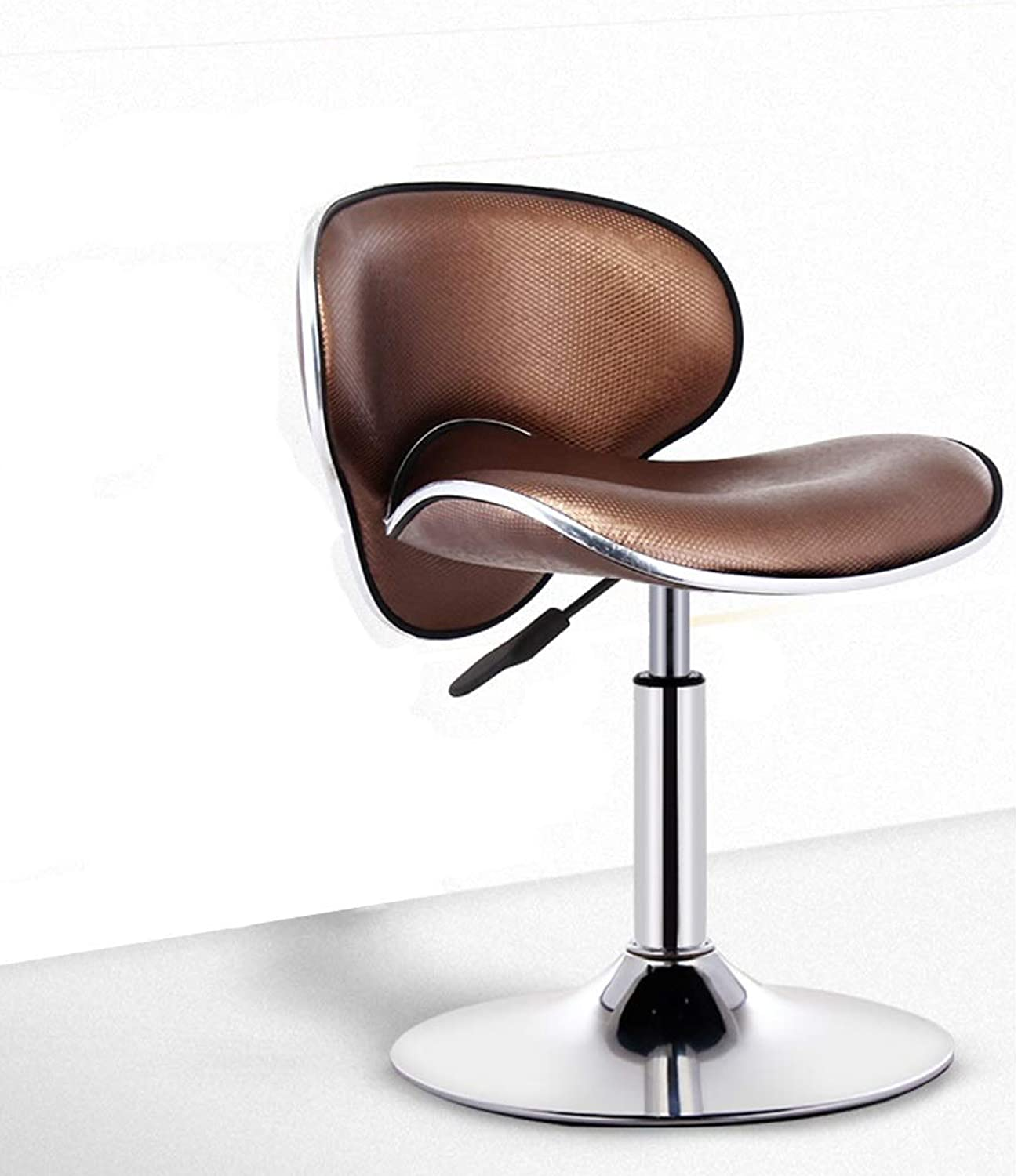 Cafe Bar Stool Chair Lift Modern Simple Counter Barstool Kitchen Leather Seat Front Desk Home Decoration 0522A (color   Brown)
