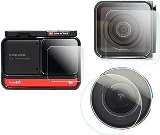 Skärmskydd kompatibelt med Insta360 ONE R Adaptive Action Camera (Twin Edition) LCD + 4K vidvinkellins + 1 tum utgåvalins...