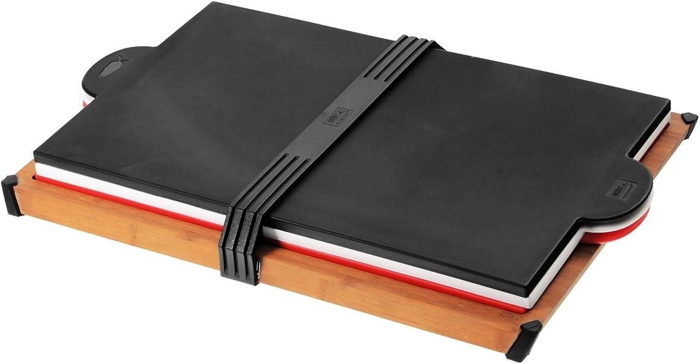 Weber 17176 Bambus Schneidebrett mit 3 Vinyl-Auflagen, dreifarbig B00CI64WO4