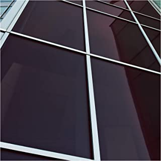 Reflective Window Film Mirror One Way Daytime Privacy Anti UV Static Cling Window Film Removable Decorative Screen Stickers Black /& Silver 6 Mil 23.6 Inch x 6.5 Feet