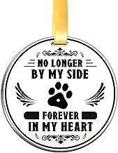 Elegant Chef Pet Memorial Ornament Christmas Keepsake- No Longer by My Side- Paw Print Remembrance Sympathy Gift