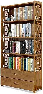 Strong Sturdy Vintage Drawer Bookcase,Floor Standing Bookshelf Children Student Bedroom Combination Book Storage Shelves