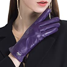 CHULRITA Women's Genuine Italian Nappa Leather Gloves Winter Warm Daily Dress Driving Gloves with Wool Lining
