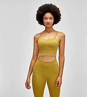 Women Padded Athletic Yoga Vest Short Fitness Tops Essential Plain Workout Gym Bra Sports Running Bra Clothing