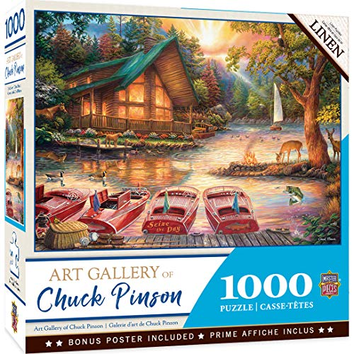 MasterPieces Chuck Pinson Art Gallery Linen Jigsaw Puzzle, Seize The Day, 1000 Pieces
