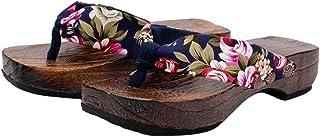 LANSKIRT Sandalias Mujer Verano 2019 Zapatillas de Plataforma de Verano Sandalias de Madera Zueco de Madera Chanclas Casa ...