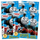 Thomas The Train Coloring Pack Party Favors in Resealable Pouches (Stickers, Crayons and Coloring Activity Book) - Set of 6