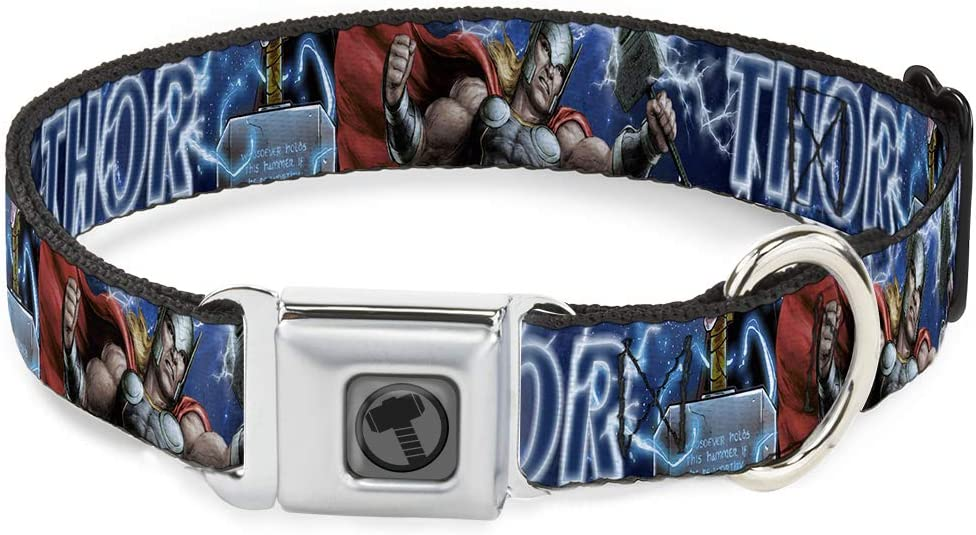 Buckle-Down Dog Collar Seatbelt Buckle Acti Gifts Genuine Free Shipping Avengers Thor Hammer