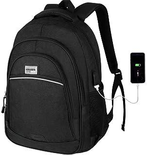 Mochila Hombre, Mochila Escolar 15.6 Pulgadas con Carga USB, Laptop Mochila con Portátil Compartimento Grueso para Hombre Mujer 35L (Negro)