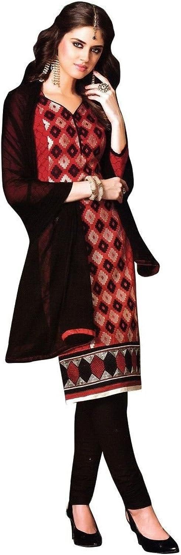 Designer Elegant Cotton Embroidered Salwar Kameez Suit Indian