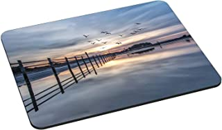 Pedea Gaming und Office - Tappetino per mouse, 220 x 180 mm, con bordi cuciti e base antiscivolo, Coastline