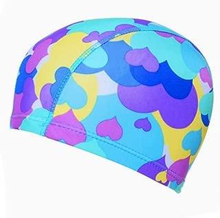Kylin Express Girls Comfortable Swim Cap Swimming Hat Cloth Hat Bathing Cap, Hearts