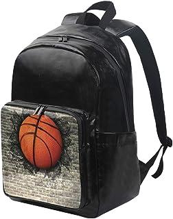 LUPINZ - Mochila multiusos de baloncesto con pared de ladrillo, ligera, mochila de viaje