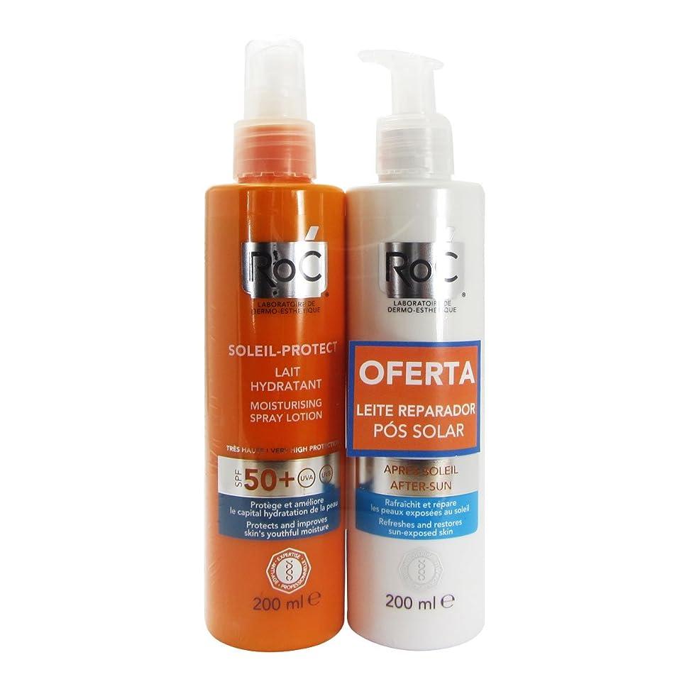 印象派レオナルドダ幻滅するRoc Pack Soleil Protect Hydrating Fluid Spf50 200ml + Refreshing Repair Fluid 200ml [並行輸入品]