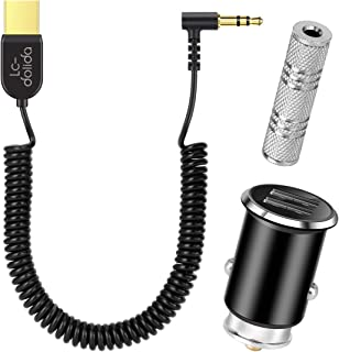 Bluetooth Receiver, Bluetooth Car Aux Adapter,TOPOINT Car Stereo Receiver with Built-in Microphone, Hands-Free Calling, 2 USB Ports Car Charger, 3.5mm Stereo Jack Adapter for Home Audio
