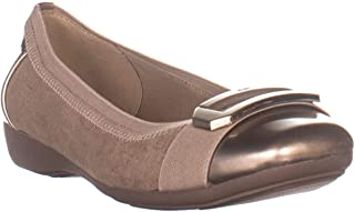 Anne Klein Womens Uplift Fabric Closed Toe Casual Slide Sandals US