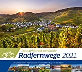 Deutschlands Radfernwege Kalender 2021, Wandkalender im Querformat (54x48 cm) - Mit Hintergrundinformationen zu den Fahrradtouren
