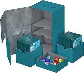 Ultimate Guard UGD010472 Twin Flip´n´Tray Deck Case, 200 Plus, Standard Size, XenoSkin, Petrol