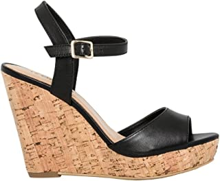 Chic Leather Wedge Sandal