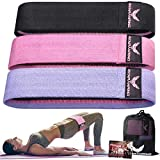 Resistance Bands for Legs and Butt - Exercise Bands Set - Workout Bands Fabric Booty Fitness Bands Strength Bands Resistance Loops Band Anti Slip Elastic