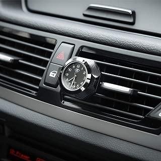 Car Clock,High Accuracy Mini Vehicle Quartz Luminous Dial Car Dashboard Clock Air Freshener Diffuser Small Round Luminous Clock with Vent Clip Dia. 1.4