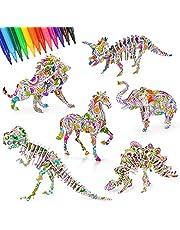 CITSKY Puzzle à Colorier 3D Et Ensemble d'Artisanat, Jeu De Puzzle De Peinture 3D pour Filles Et Garçons - Jouets Parfaits pour Les Enfants