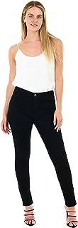 M17 Vrouwen Dames Skinny Fit Jeans Denim Casual Klassieke Katoenen Broek Broek met Zakken Zip Up