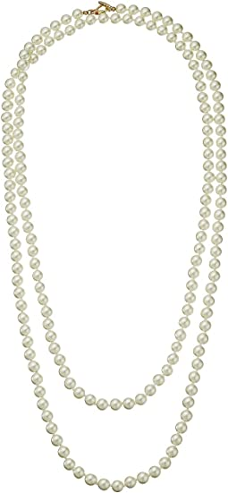 "60"" 8 mm Cultura Pearl and Gold Toggle Clasp Necklace"