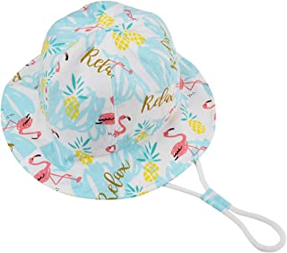 Baby Sun Hat with Chin Strap - Unisex Toddler Summer Play Bucket Hat UPF 50+