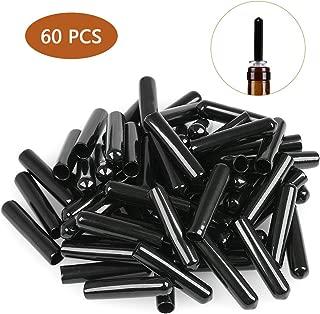 FOCCTS 60 Black Rubber Pourer Cap Liquor Bottle Pourer Cover Dispenser Spout Dust Covers