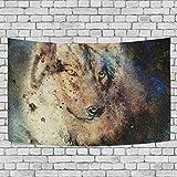 #Wandteppich #Wolf #Wolfskopf #bunt verschiedene Größen