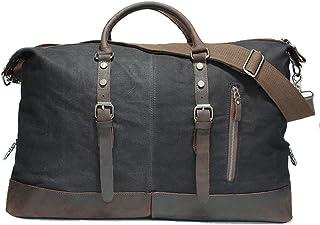 Ybriefbag Unisex First Layer Leather Bag / Real Bag Mens Travel Bag / Handbags / Womens Hand Bag Mens Travel Bag Shoulder Retro Travel Bag Vacation