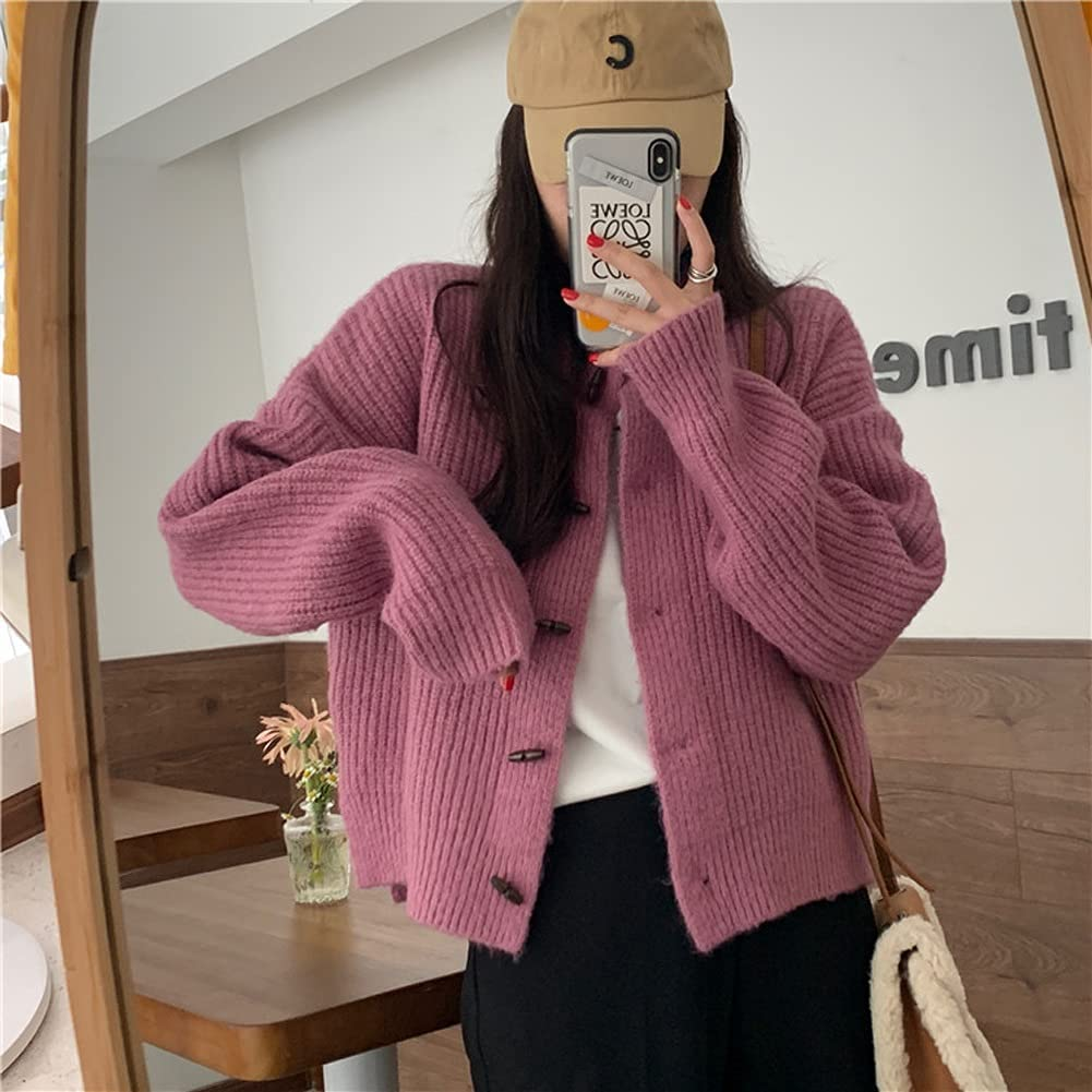UXZDX CUJUX Winter Our shop most popular Cardigans Slimming Our shop OFFers the best service Elegance Korean Retro Styl