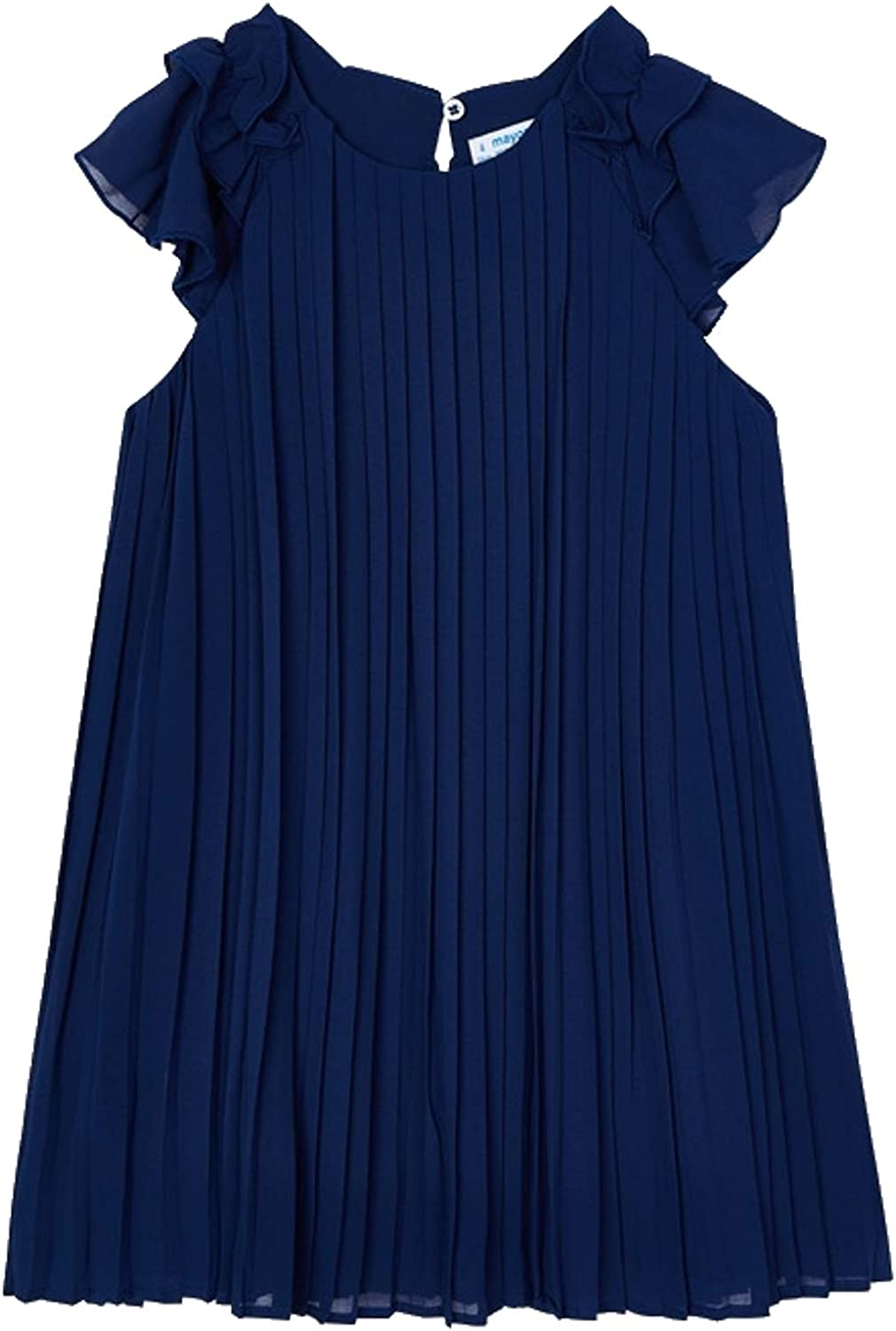 Mayoral - Pleated Dress for Girls - 3911, Ink
